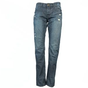 Tainted denim jeans button fly 30x32